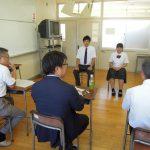 7月23日(月)福井商業高校就職模擬面接
