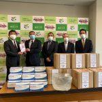 2020/4/30 マスク、高濃度除菌水を寄贈