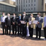 奈良県医師会へ医療用マスク贈呈式