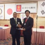 奈良東RC、韓国沙下RC合同創立記念例会