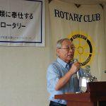 8月12日〈金〉第2766回例会には、福井テレビの元解説委員 土山弥一郎氏を卓話者にお迎えしました。