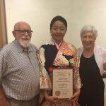 グローバル補助金奨学生 上野麻実さんご卒業